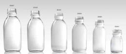 clear glass bottle for syrup DIN PP28mm