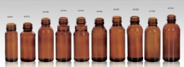amber glass bottle for syrups screw finish STD PP28mm